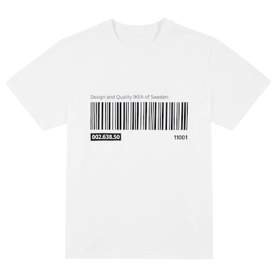 EFTERTRÄDA エフテルトレーダ Tシャツ, ホワイト, L/XL
