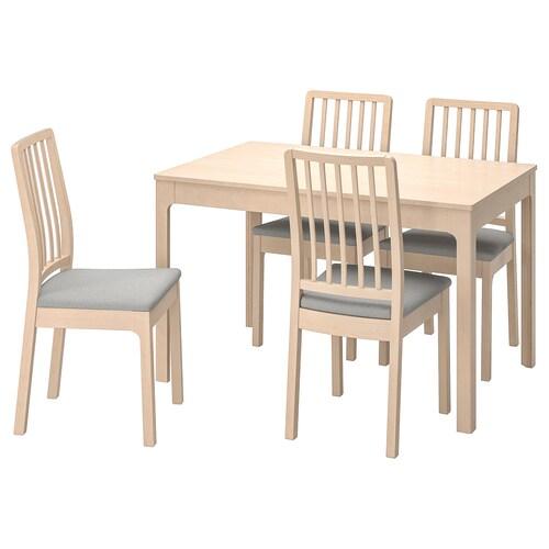 エーケダーレン / エーケダーレン テーブル&チェア4脚 バーチ/オッルスタ ライトグレー 120 cm 180 cm