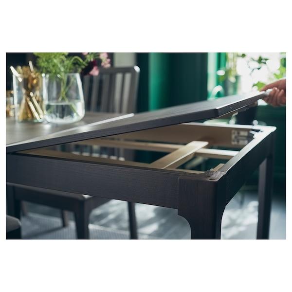 EKEDALEN エーケダーレン 伸長式テーブル, ダークブラウン, 120/180x80 cm