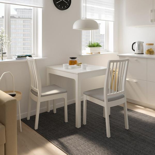 EKEDALEN エーケダーレン 伸長式テーブル, ホワイト, 80/120x70 cm