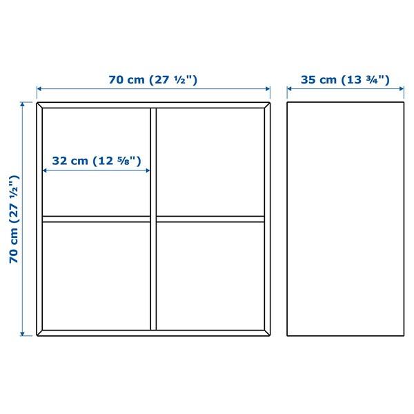 EKET エーケト キャビネット 4コンパートメント, ホワイトステインオーク調, 70x35x70 cm