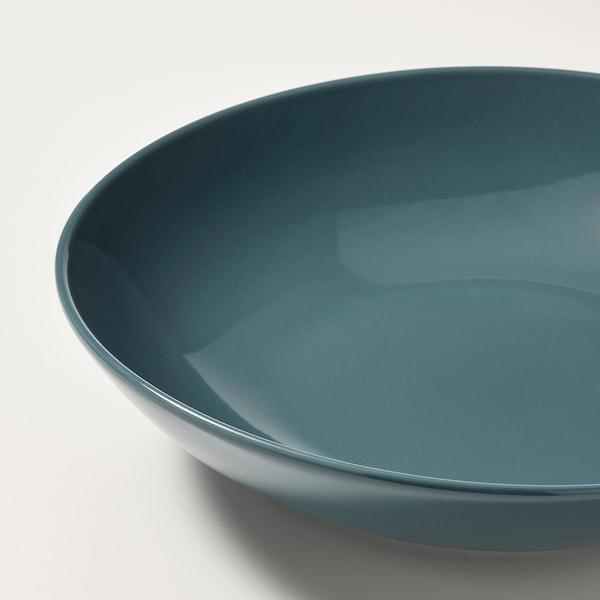 FÄRGKLAR フェルグクラー 深皿, グロス ダークターコイズ, 23 cm