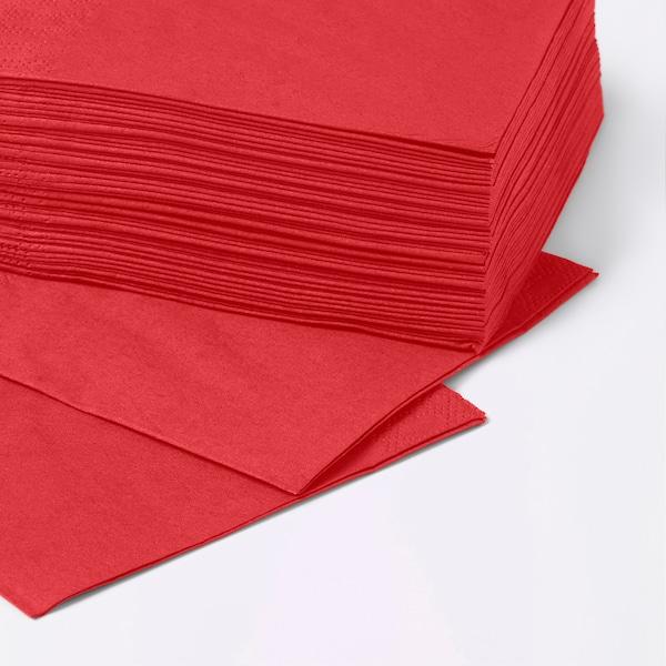 FANTASTISK ファンタスティスク 紙ナプキン, レッド, 24x24 cm