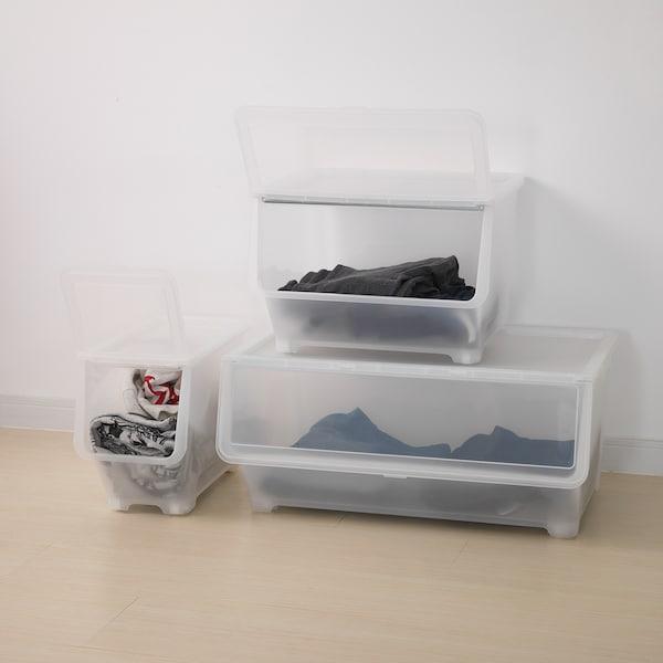 フィッラ ふた付きボックス 透明 22 cm 42 cm 31 cm 2 kg