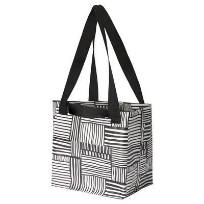 FISSLA フィスラ バッグ, ホワイト/ブラック, 27x27 cm