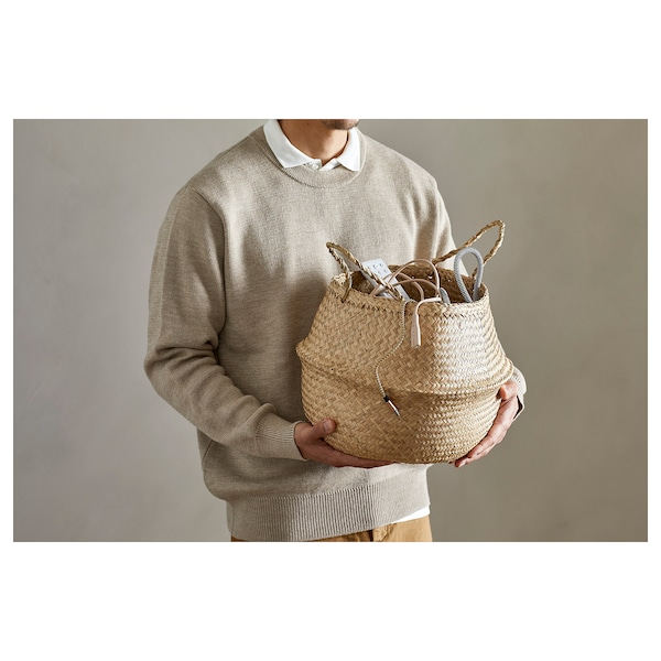 FLÅDIS フローディス バスケット, シーグラス(水草), 25 cm
