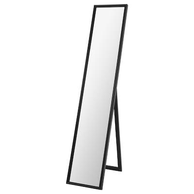 FLAKNAN フラークナン スタンドミラー, ブラック, 30x150 cm