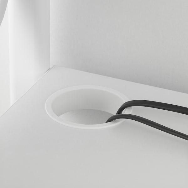 FREDDE フレッデ ゲーム用デスク, ホワイト, 140/185x74x146 cm