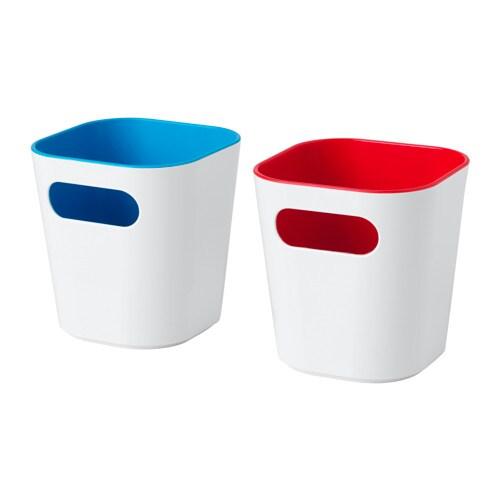GESSAN ボックス IKEA 歯ブラシや歯みがき、ヘアピンなどを整理整頓するのに便利です 角が丸いのでお手入れが簡単です
