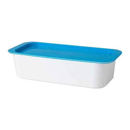 GESSAN ふた付きボックス IKEA 積み重ねられる収納ソリューション。小物の収納に便利です。YDDINGEN/イッディンゲン 洗面台の引き出しや洗面ボウルにぴったり収まります 角が丸いのでお手入れが簡単です