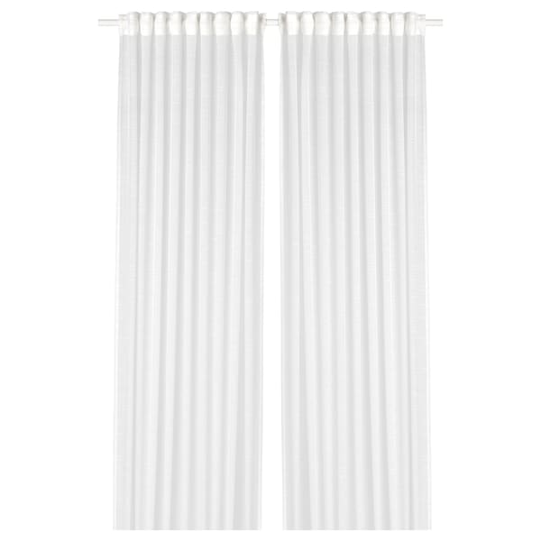 ヤルトルド シアーカーテン1組, ホワイト, 145x198 cm