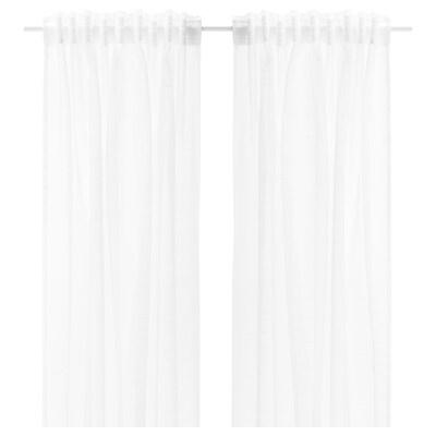 ヤルトルド シアーカーテン1組, ホワイト, 145x133 cm