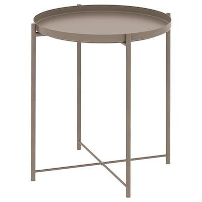 GLADOM グラドム トレイテーブル, ダークグレーベージュ, 45x53 cm