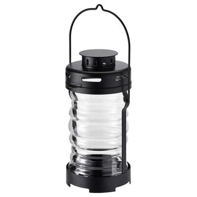 GLIMRANDE グリムランデ ティーライト用ランタン 室内/屋外用, ブラック, 23 cm