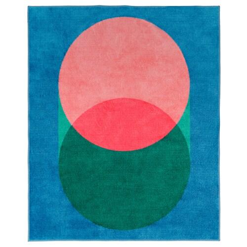 グラシオース ラグ ピンク/ブルー 160 cm 133 cm 2.13 m²