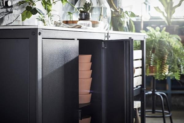 GRILLSKÄR グリルシェール アウトドア用キッチン シンクユニット/キャビネット付き, ステンレススチール, 172x61 cm