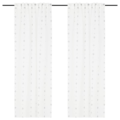 GULVINGFLY グルヴィングフリィ シアーカーテン1組, ホワイト, 145x250 cm