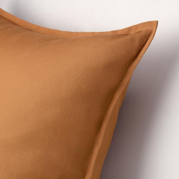 GURLI グルリ クッションカバー, ブラウンイエロー, 50x50 cm