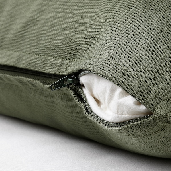 GURLI グルリ クッションカバー, ディープグリーン, 50x50 cm
