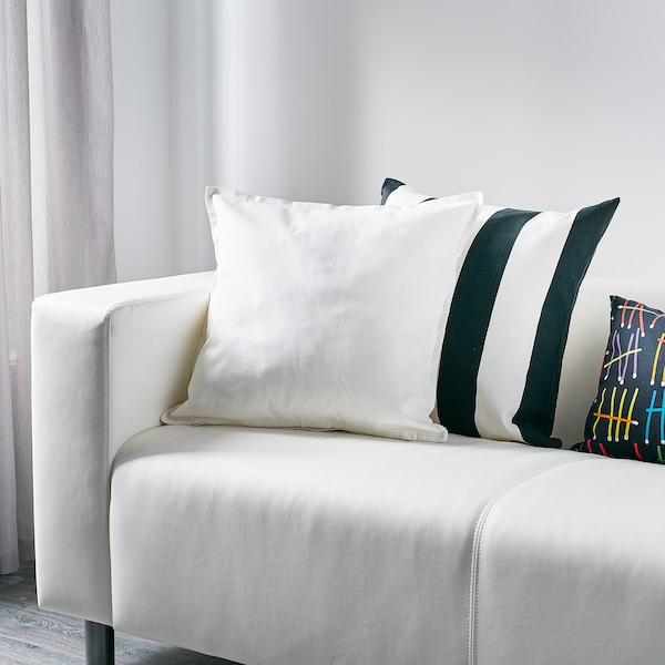 GURLI グルリ クッションカバー, ホワイト, 50x50 cm