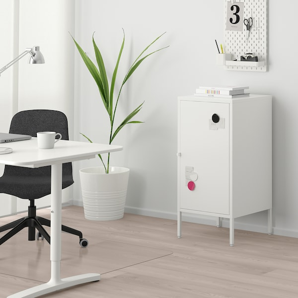HÄLLAN ヘッラン 収納コンビネーション 扉付, ホワイト, 45x47x92 cm