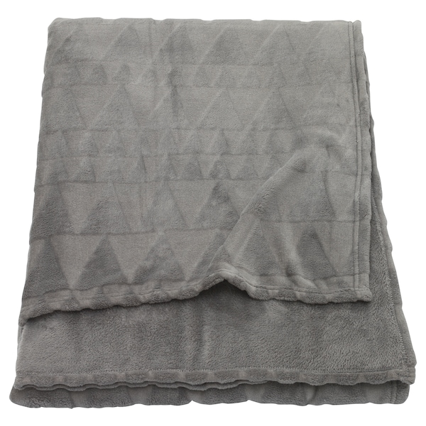 HARKÅL ハルコール 毛布, グレー, 200x200 cm