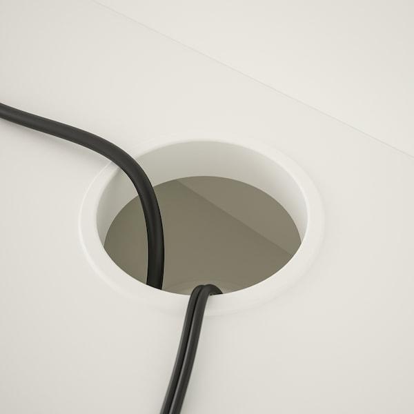 HAUGA ハウガ デスク, ホワイト, 100x45 cm