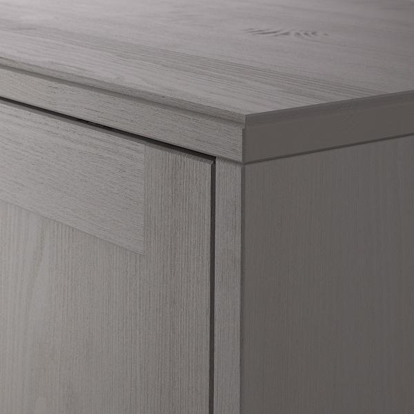 HAVSTA ハーヴスタ キャビネット 台座付き, グレー, 81x47x89 cm