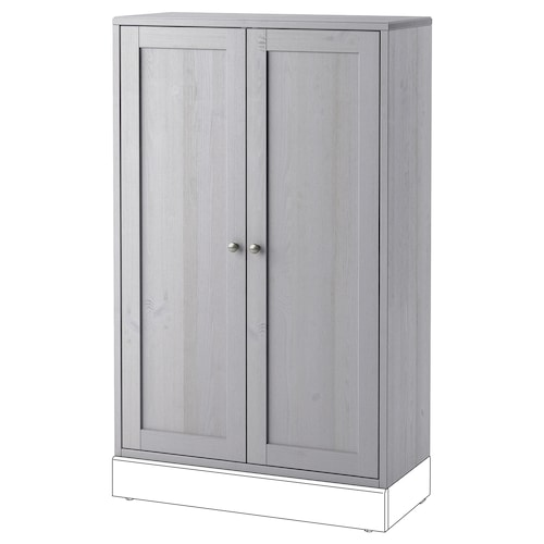 ハーヴスタ キャビネット グレー 81 cm 35 cm 123 cm 23 kg
