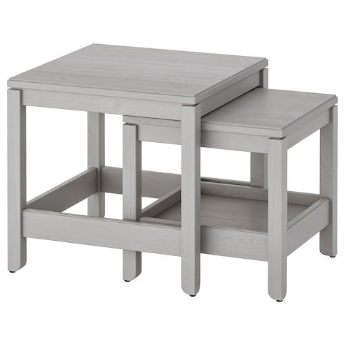 ハーヴスタ ネストテーブル2点セット グレー