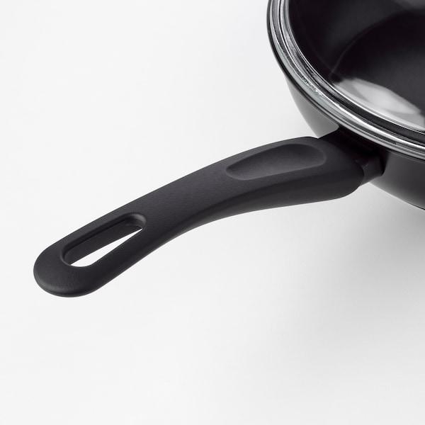 HEMLAGAD ヘムラーガッド ソテーパン ふた付, ブラック, 26 cm
