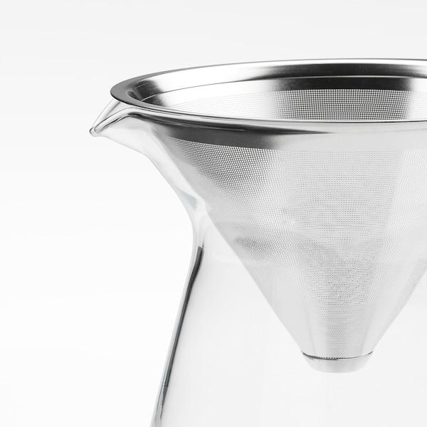 ホーグモーディグ コーヒーメーカー ドリップコーヒー用 クリアガラス/ステンレススチール 16 cm 0.6 l