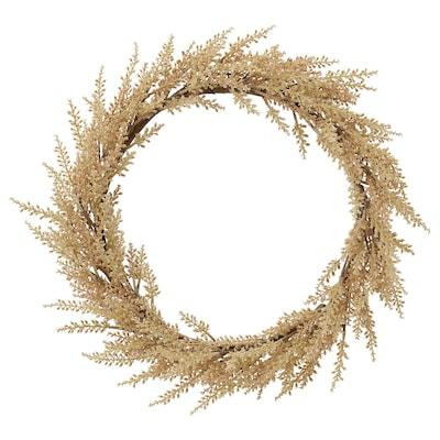 HÖSTKVÄLL ホストクヴェール 造花のリース, 室内/屋外用 ナチュラル, 43 cm