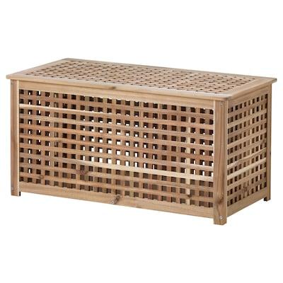 HOL ホール リビングテーブル 収納付き, アカシア材, 98x50 cm