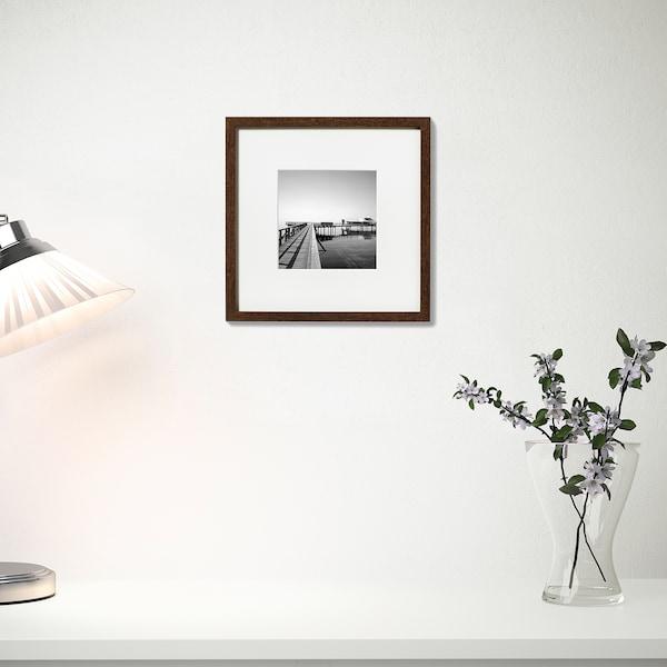 HOVSTA ホーヴスタ フレーム, ミディアムブラウン, 23x23 cm
