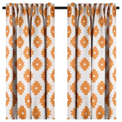 IDALENA イダレーナ 遮光カーテン(わずかに透光) 1組, イエロー, 145x178 cm