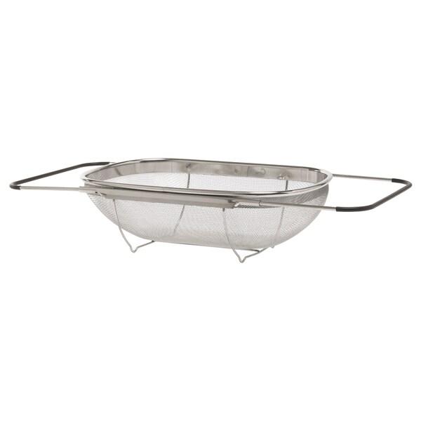 IDEALISK イディアーリスク 水切りボウル, ステンレススチール/ブラック, 34x23 cm