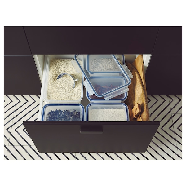 IKEA 365+ 保存容器 L 長方形/プラスチック 32 cm 21 cm 22 cm 10.6 l