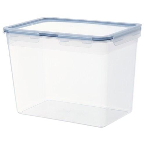 IKEA 365+ 保存容器 ふた付き 長方形/プラスチック 32 cm 21 cm 23 cm 10.6 l
