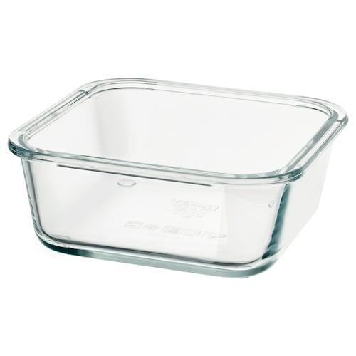 IKEA 365+ 保存容器 正方形/ガラス 15 cm 15 cm 6 cm 600 ml