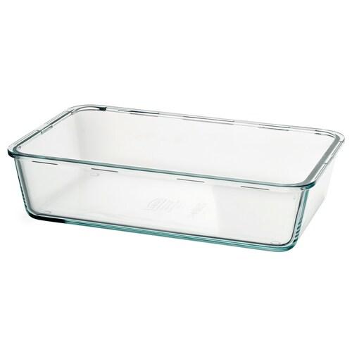 IKEA 365+ 保存容器 L 長方形/ガラス 32 cm 21 cm 8 cm 3.1 l
