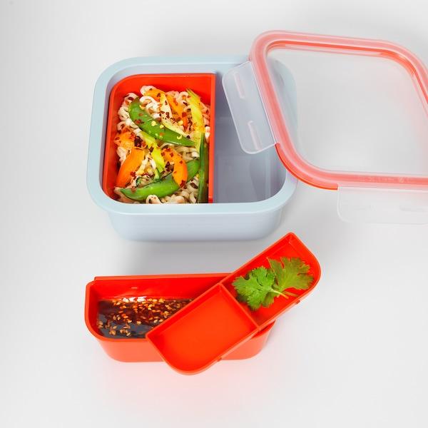 IKEA 365+ 弁当箱 インサート付き 正方形 15 cm 15 cm 6 cm 750 ml