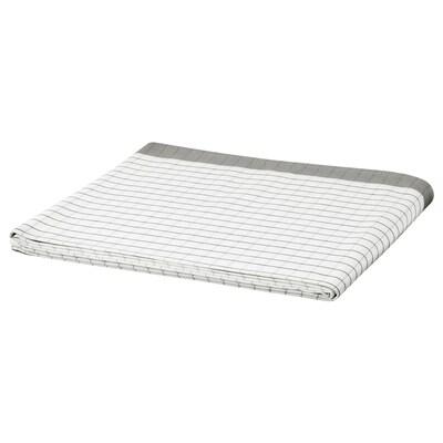 IKEA 365+ テーブルクロス, ホワイト/グレー, 145x240 cm
