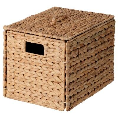 INSVEP インスヴェープ ふた付きボックス, ホテイアオイ, 35x25x25 cm