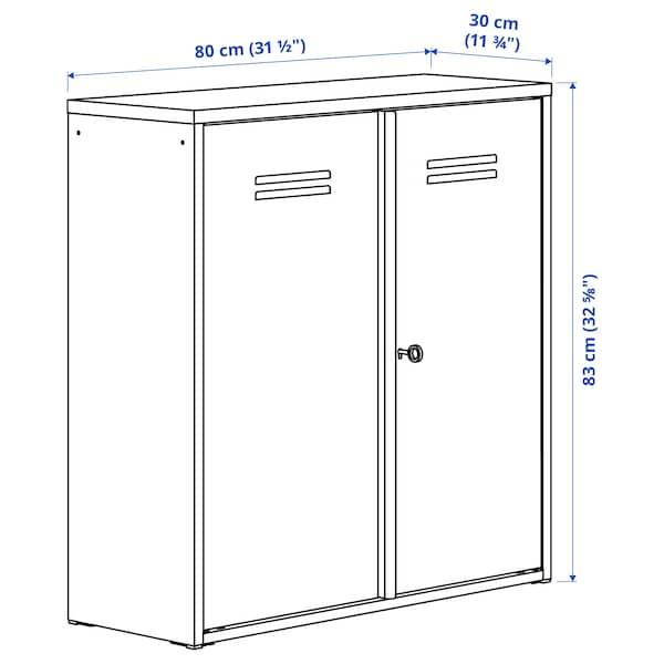 IVAR イーヴァル キャビネット 扉付, ホワイト, 80x83 cm