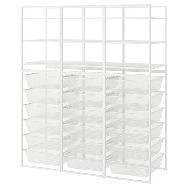 JONAXEL ヨナクセル オープン収納コンビネーション, ホワイト, 148x51x173 cm