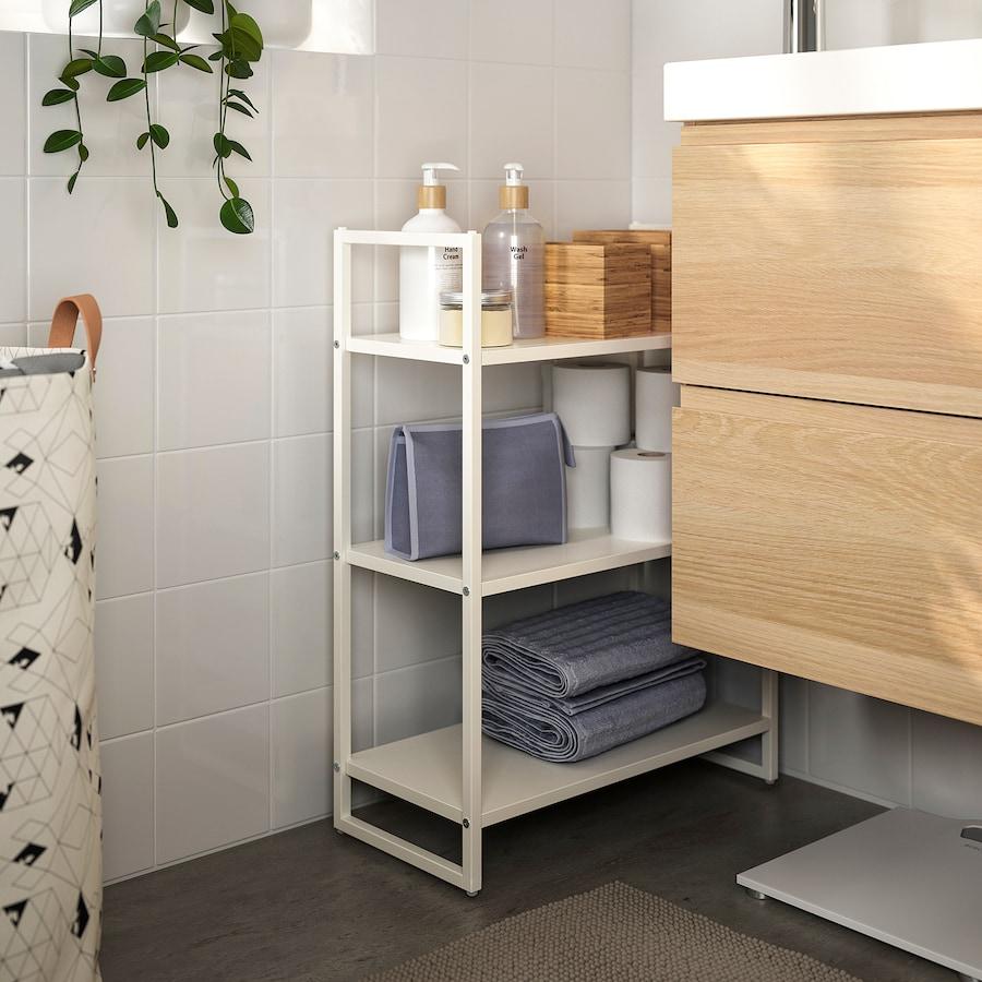 【IKEA】JONAXEL ヨナクセル シェルフユニット, ホワイト, 25x51x70 cm