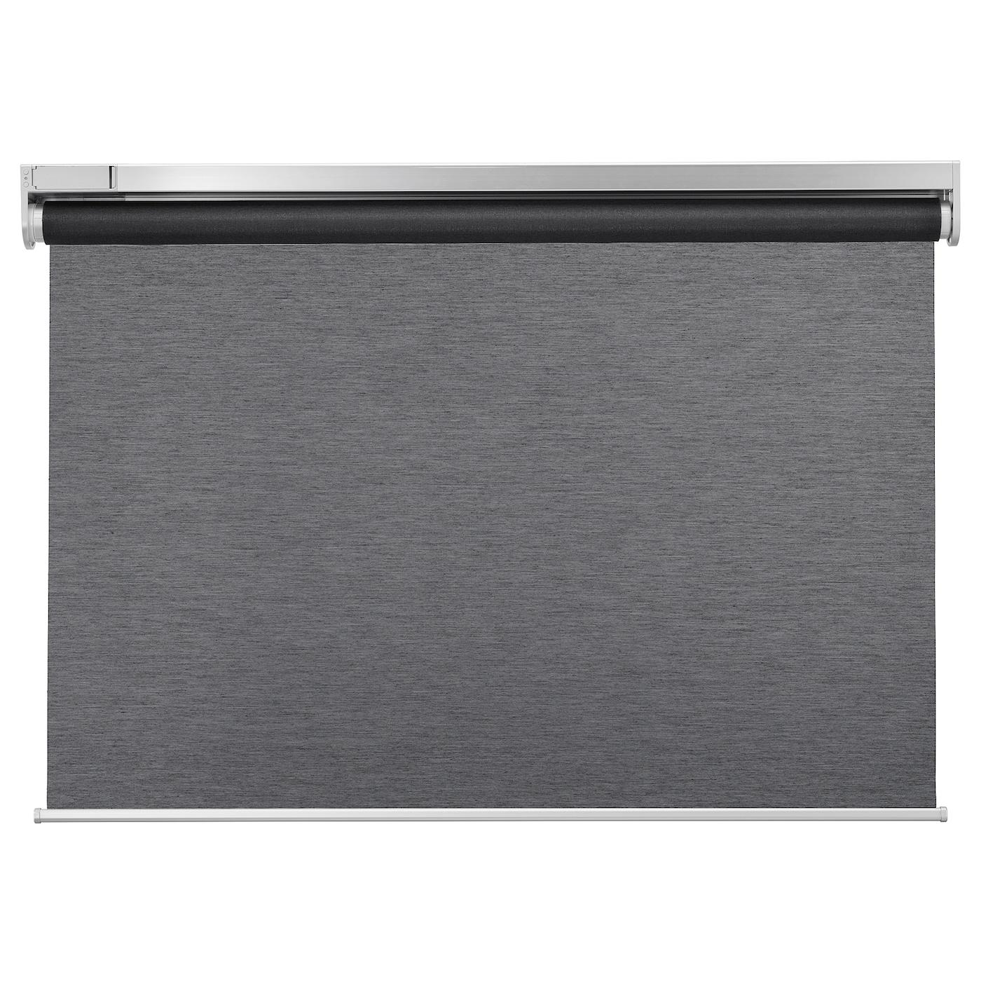 KADRILJ カドリリ ローラーブラインド - ワイヤレス, 電池式 グレー - IKEA