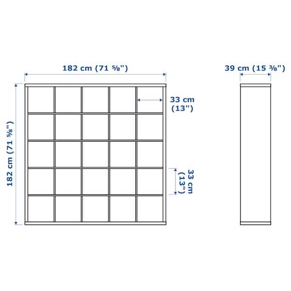 KALLAX カラックス シェルフユニット, ホワイトステインオーク調, 182x182 cm
