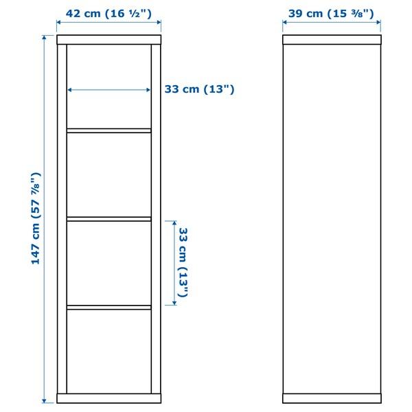 KALLAX カラックス シェルフユニット, ホワイト, 42x147 cm